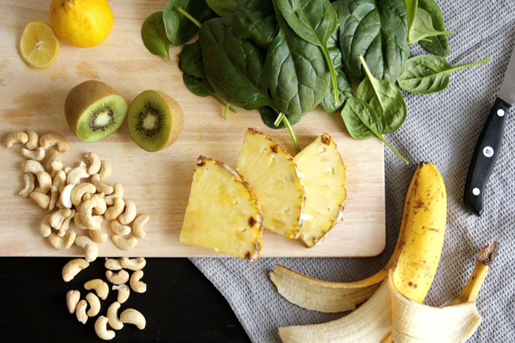 Zutaten für meinen gesunden Frühstücks-Smoothie