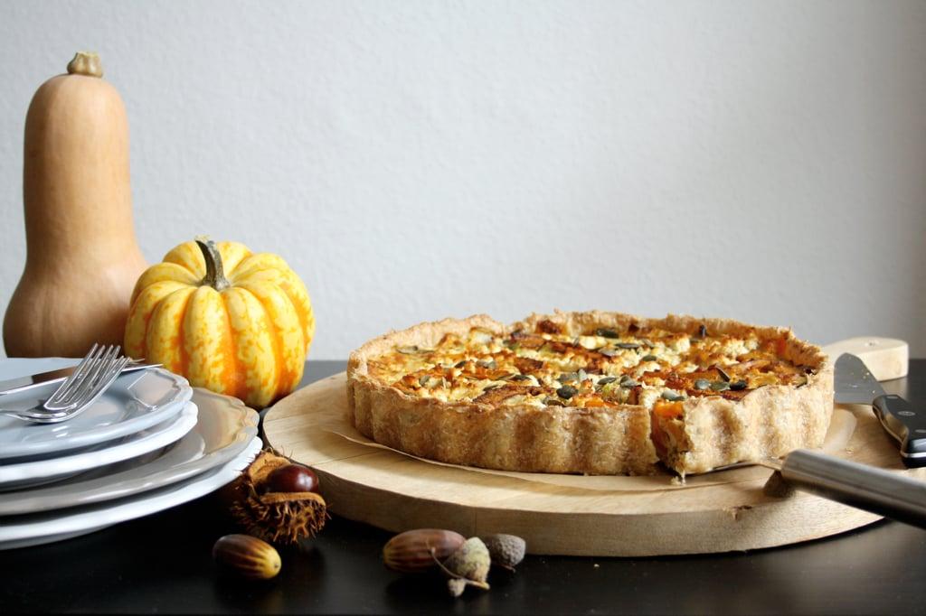 Herbstliche Kürbis-Quiche mit Lauch & Fenchel