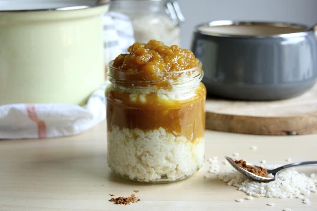 Milchreis mit Apfel-Ingwer-Kompott: Auch perfekt zum Mitnehmen