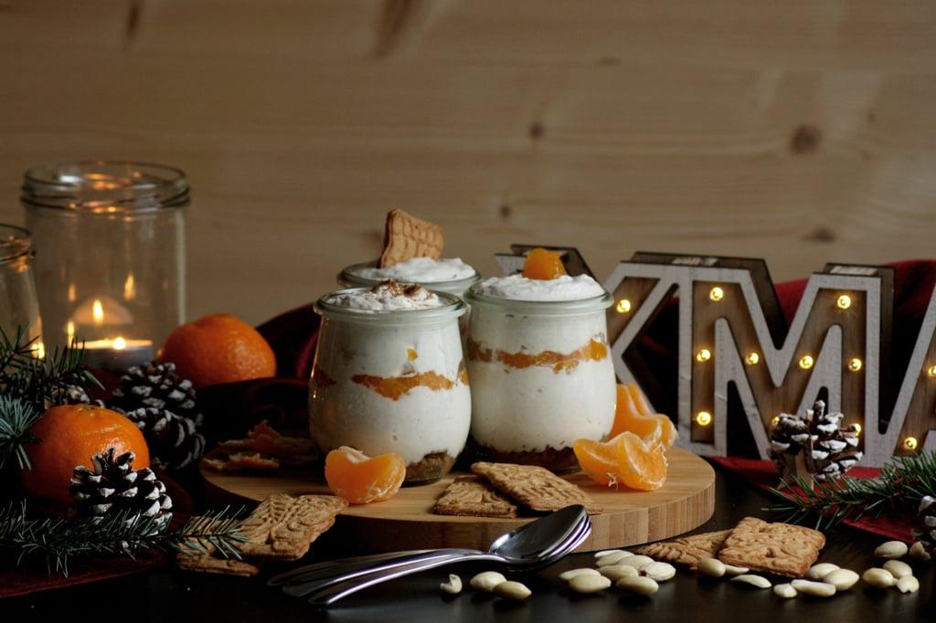 Mandarinen-Mascarpone-Dessert auf Spekulatius