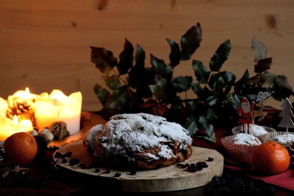 Traditioneller Christstollen und Stollen-Muffins