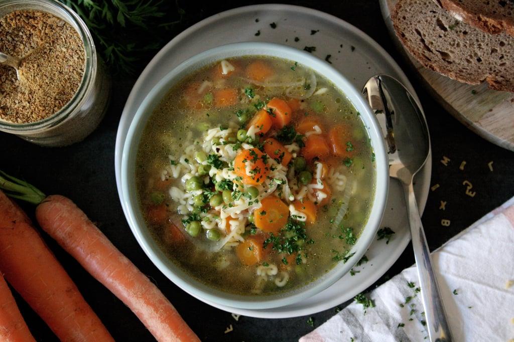 Gemüsesuppe mit selbstgemachter Bouillon
