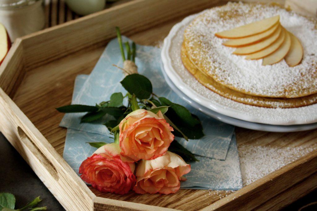 Apfelpfannkuchen - ein liebevolles Frühstück zum Muttertag