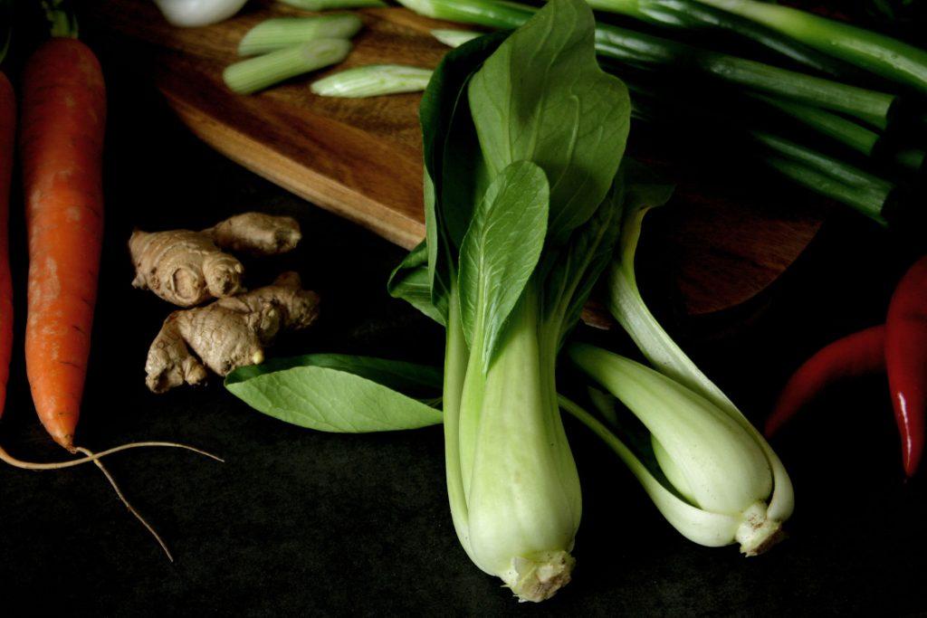 Pak Choi für Asiatische Gemüsesuppe mit Udon-Nudeln