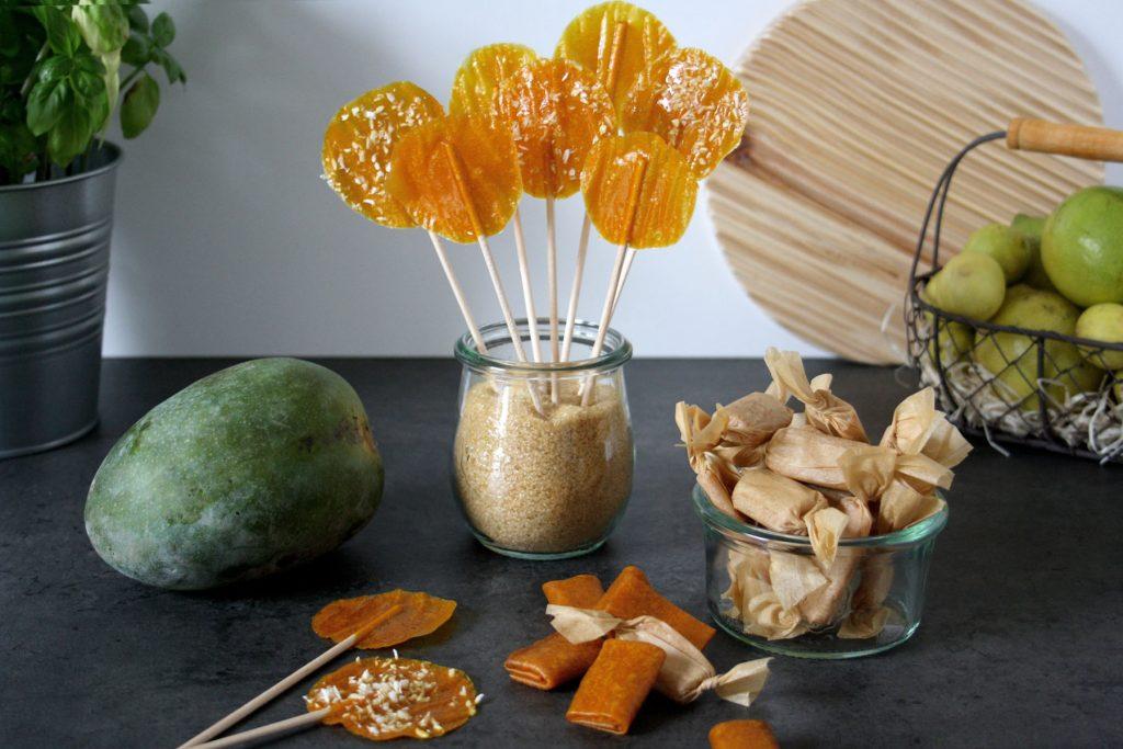Gesunde Mango-Kaubonbons & Mango-Lollies ohne Zucker