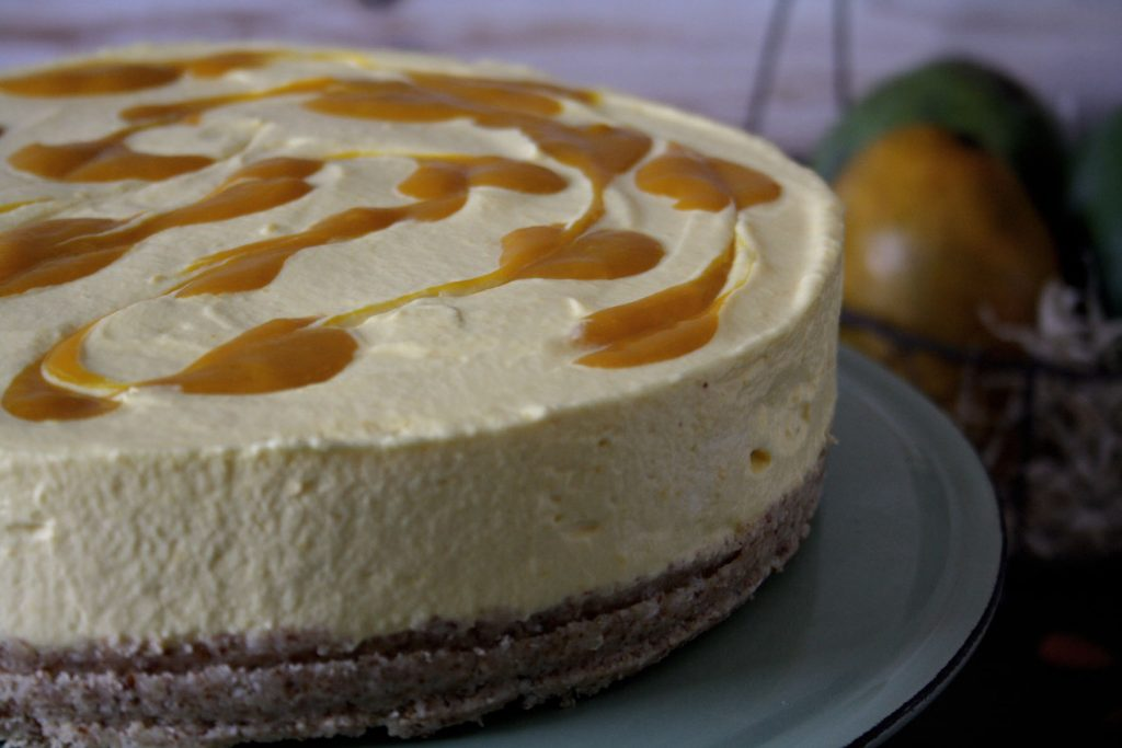 Mango-Cheesecake ohne Backen