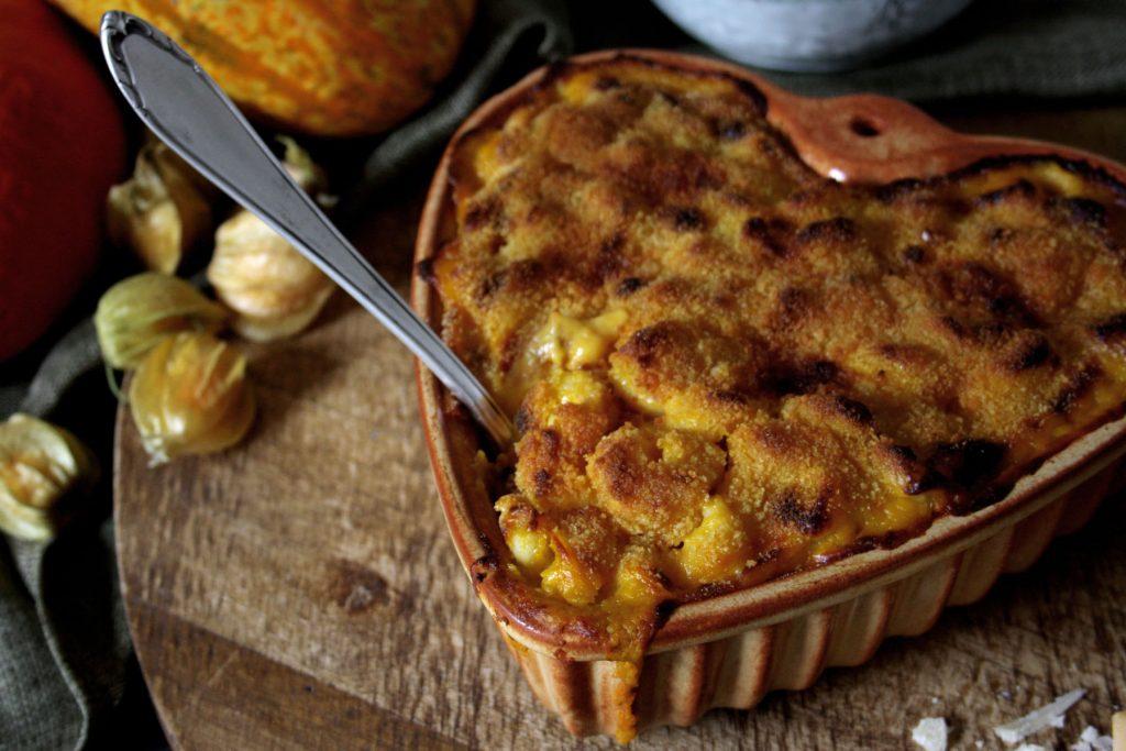 Pumpkin Mac'n'Cheese mit dreierlei Käse
