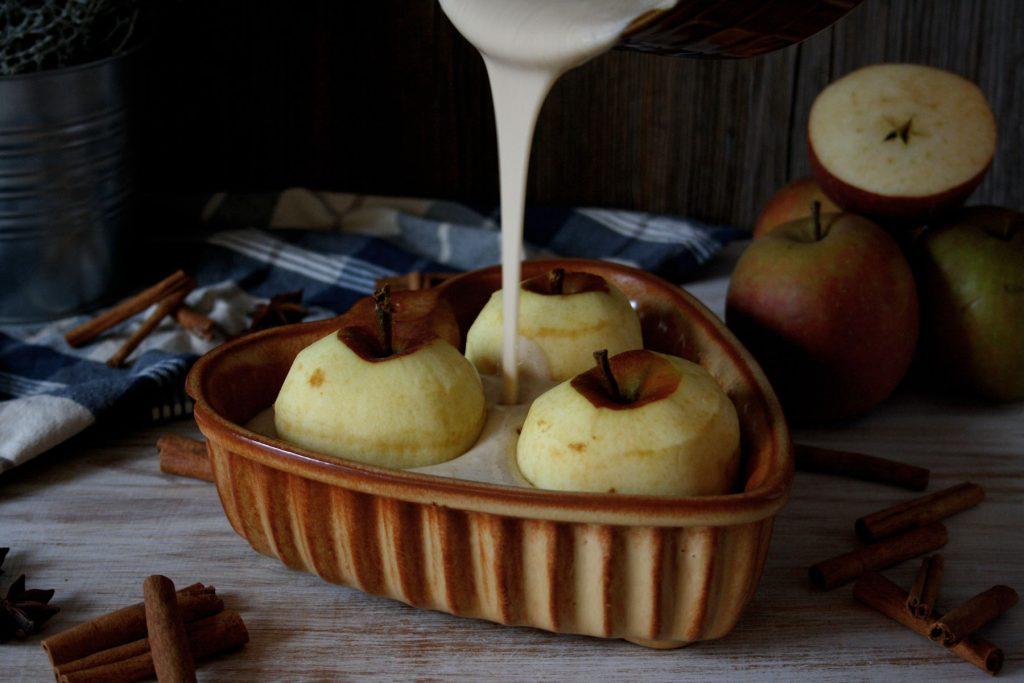 Zubereitung Einfacher Bratapfel-Auflauf