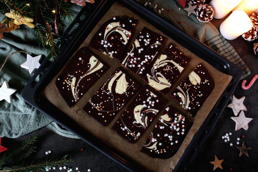 Bunte Schokolade zum Verschenken