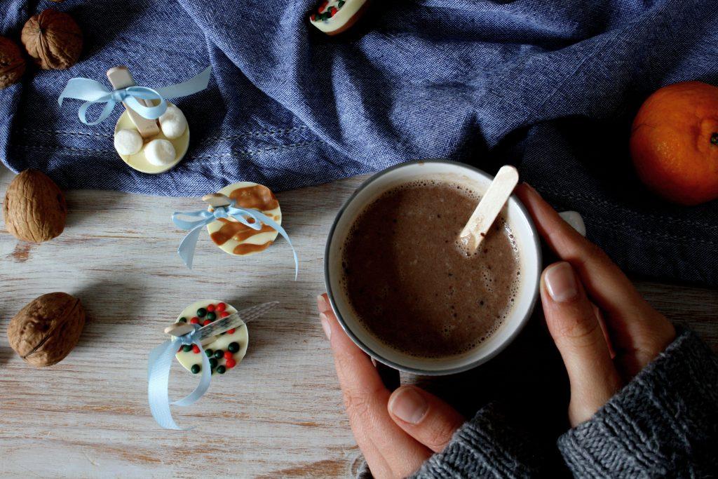Heisse Schokolade am Stiel