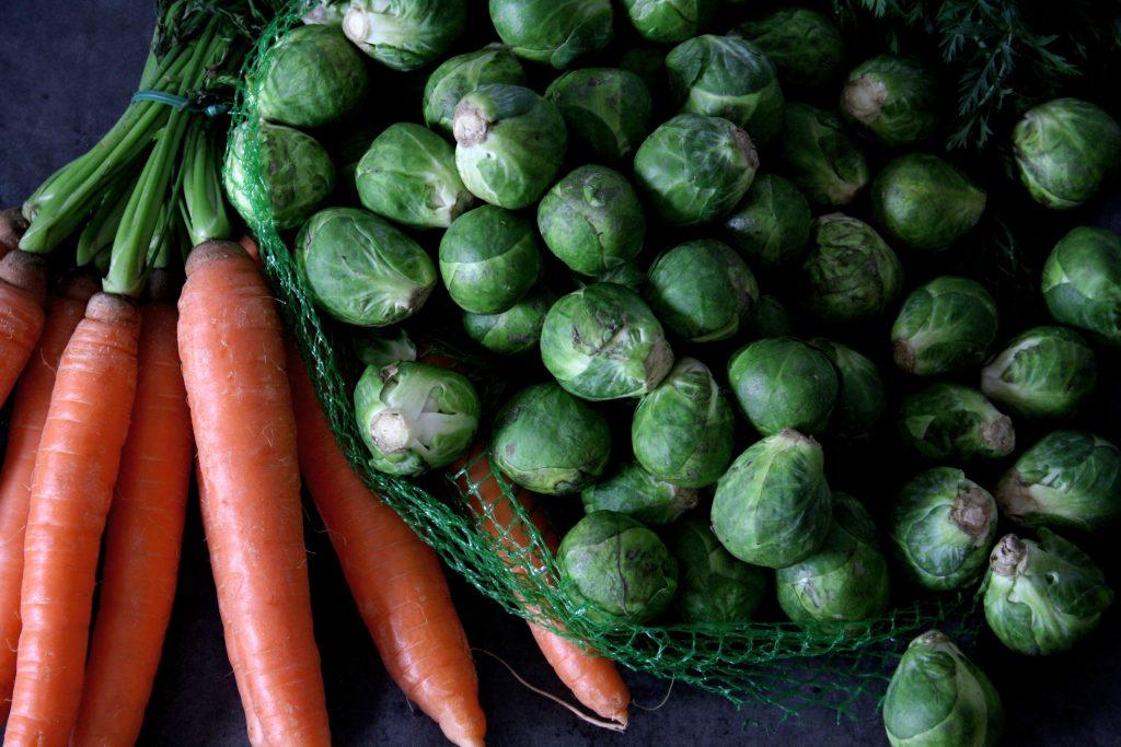 Zutaten für Rosenkohl-Karotten-Quiche
