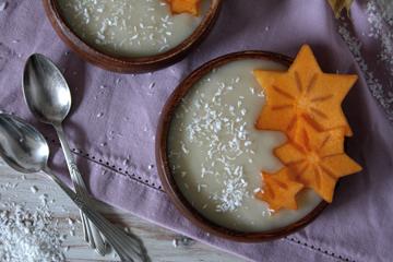 Cremiger Birnenpudding – schnell & vegan