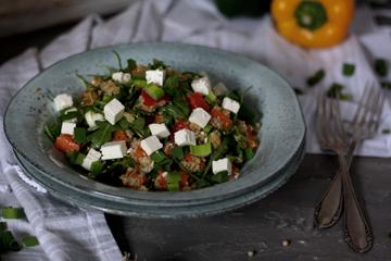 Leichter Quinoa-Süßkartoffel-Salat