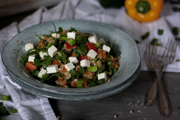 Leichter Quinoa-Süsskartoffel-Salat