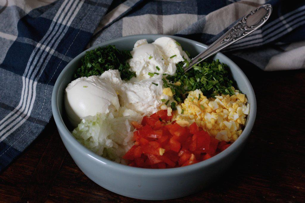 Zutaten Gefüllte Käserolle - vegetarisch & würzig
