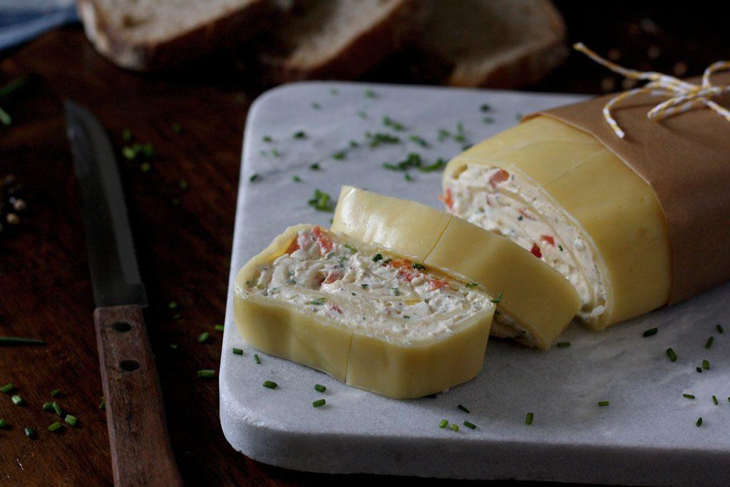 Gefüllte Käserolle - vegetarisch & würzig