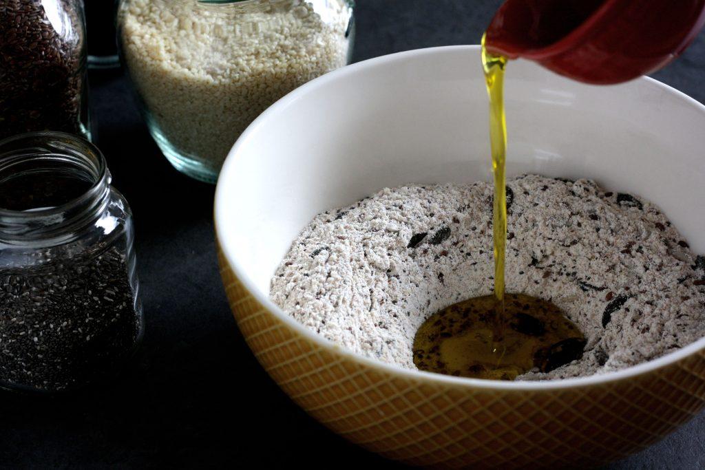 Zubereitung selbstgebackenes Knäckebrot