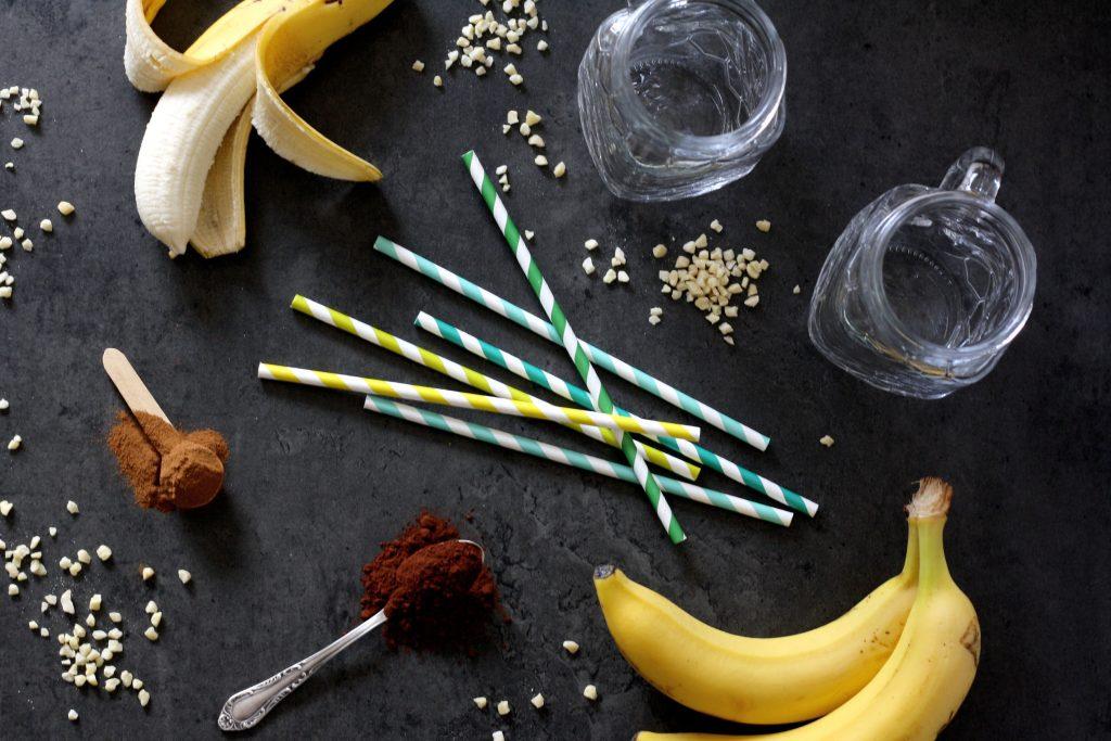 Zutaten Schneller Schoko-Bananen-Shake