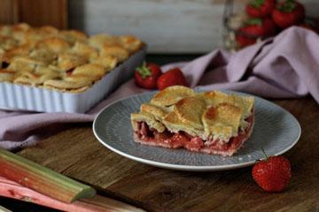 Erdbeer-Rhabarber-Pie und ein kleines Mürbeteig 1x1