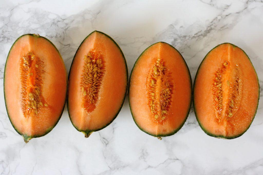 Cantaloupe-Melone für Melonen-Joghurt-Dessert