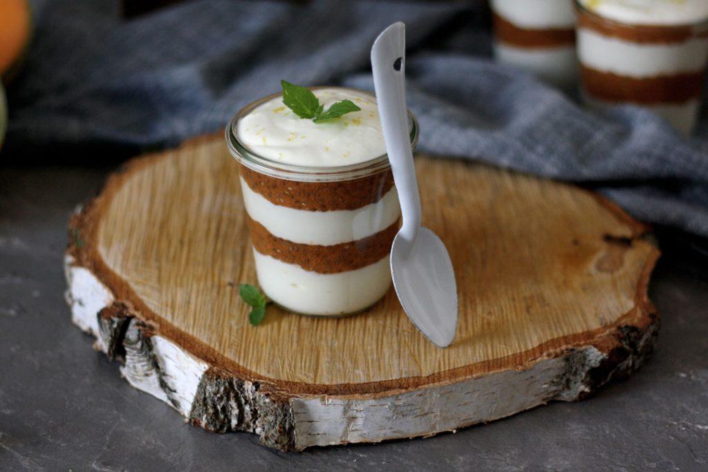 Melonen-Joghurt-Dessert