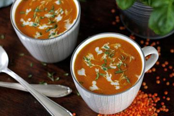 Fruchtige Orangen-Linsen-Suppe
