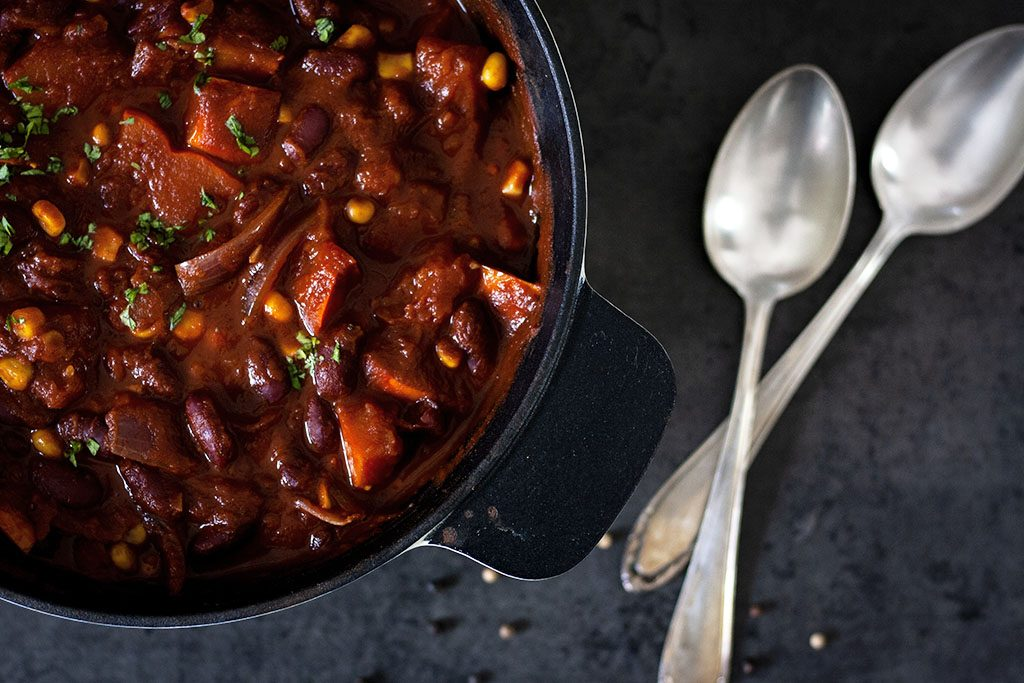 Feuriges Chili con Kürbis