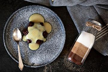 Selbstgemachte Pudding-Fertigmischung zum Verschenken