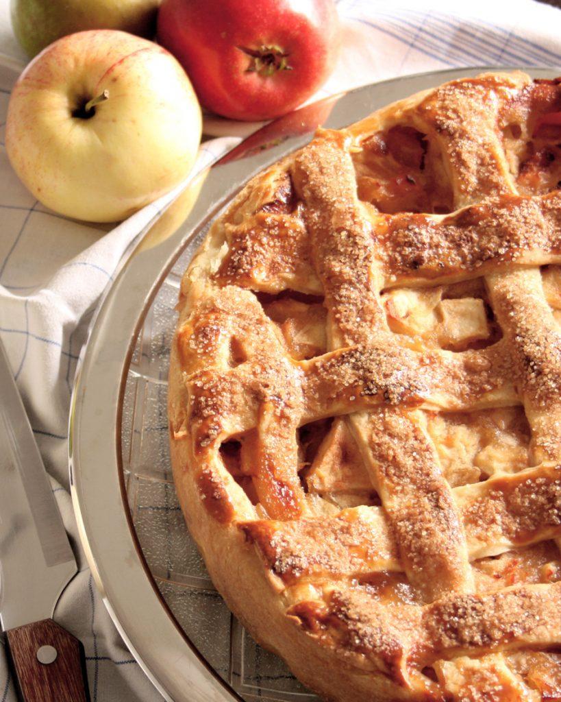 Amerikanischer Apple Pie - Apfelkuchen mit Gittermuster