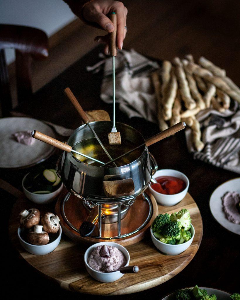 Vegetarisches Fondue mit Kela | Rezept auf carry on cooking