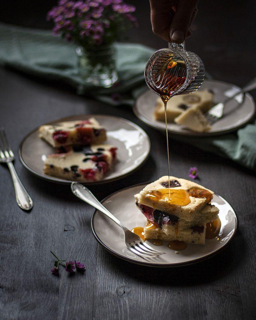 Das perfekte Wochenendfrühstück für die ganze Familie - Pfannkuchen vom Blech