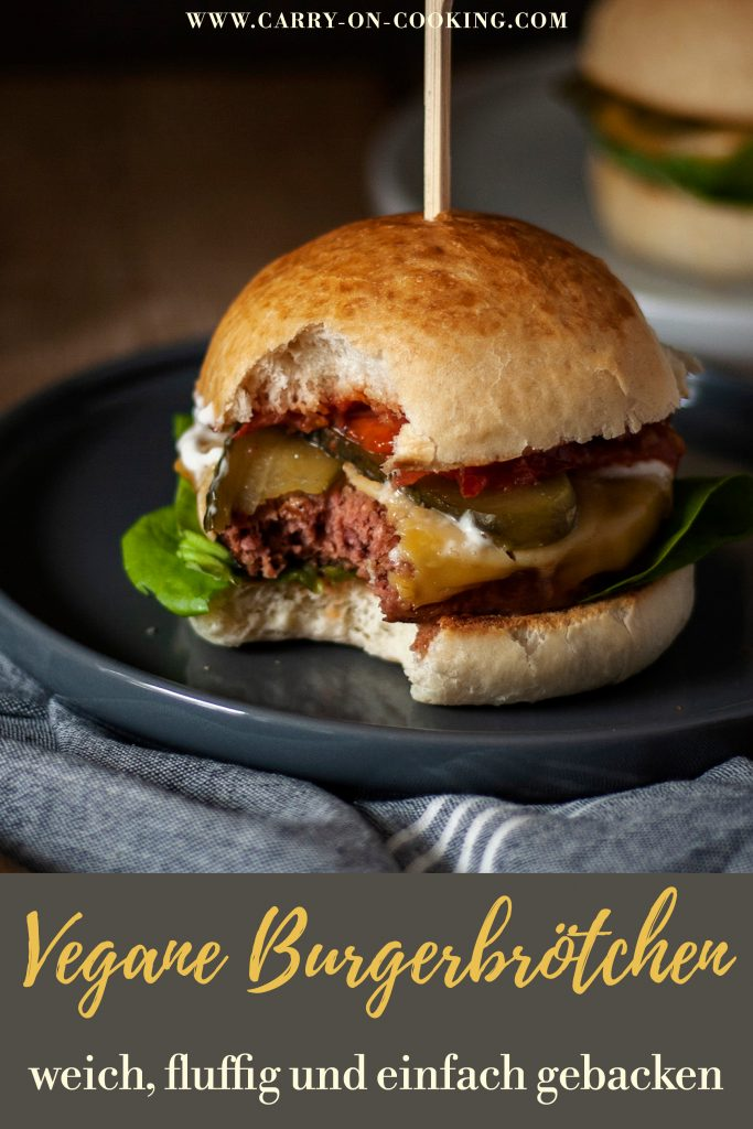 Vegane Burgerbrötchen - weich & fluffig