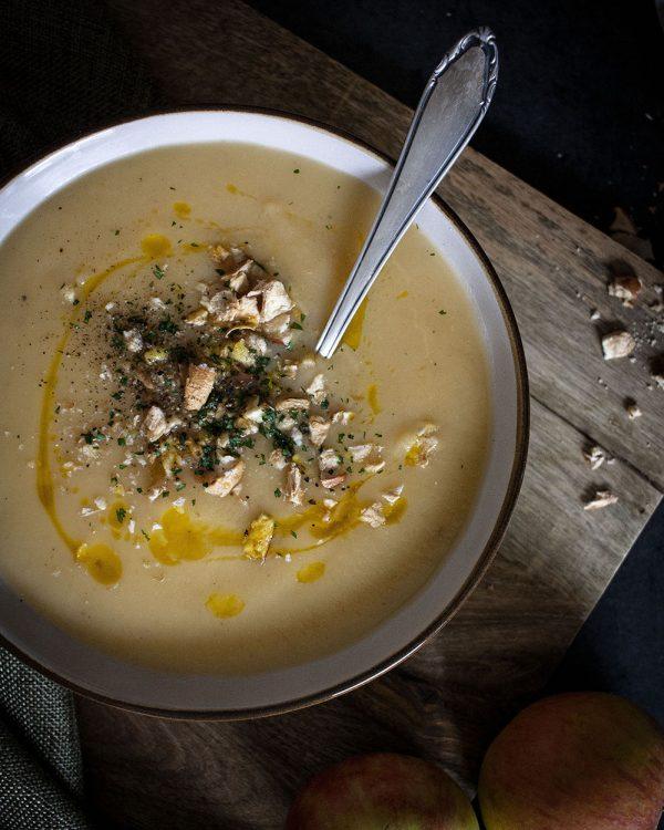Apfel-Steckrüben-Suppe - einfach und vegan