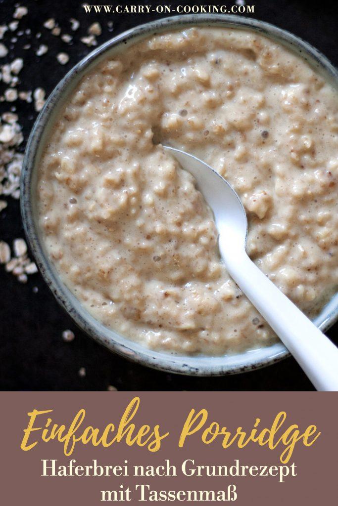 Gleich auf deinem Pinterest-Board merken: Grundrezept für veganes Porridge