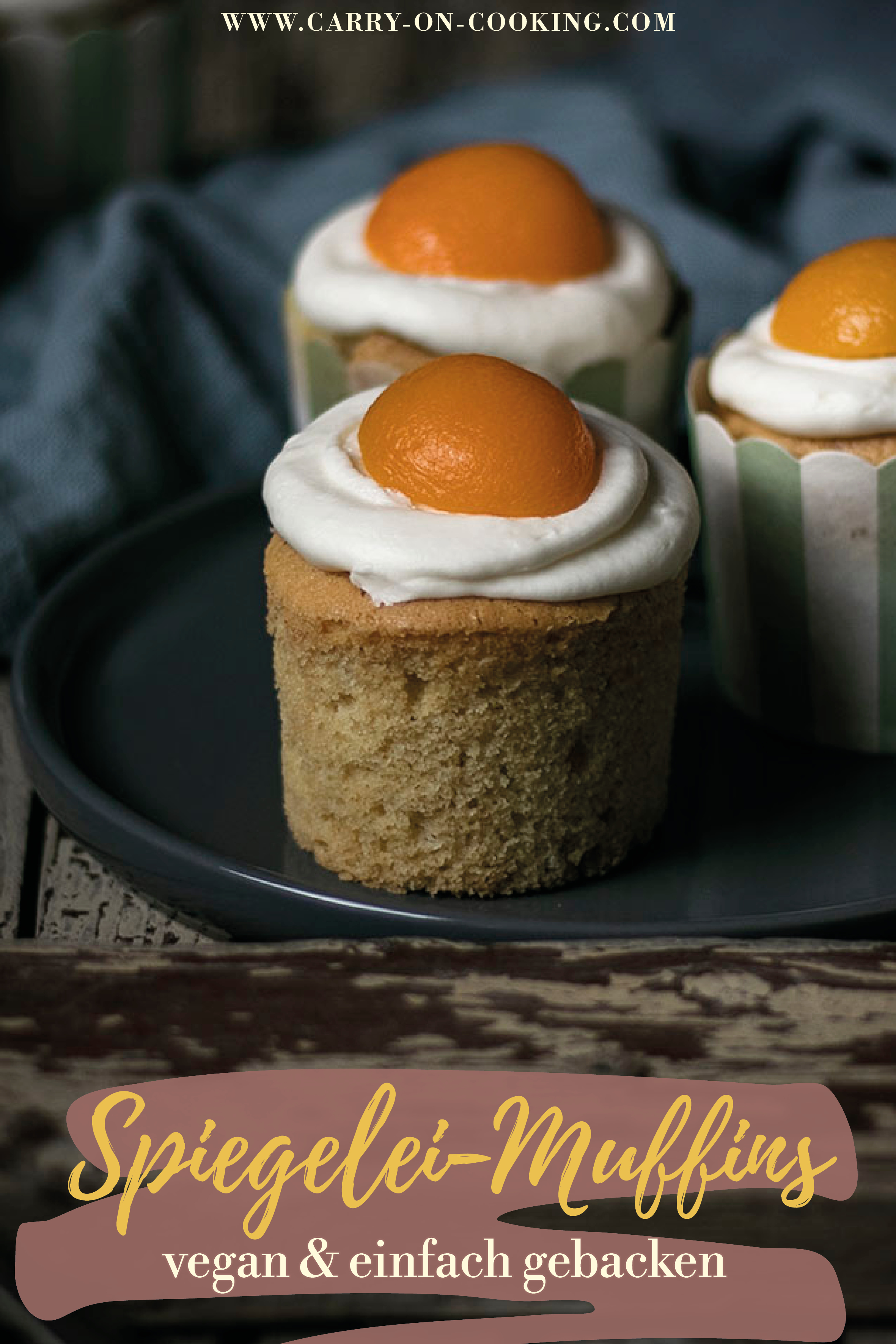 Gleich auf deine Pinterest-Pinwand pinnen: Vegane Spiegelei-Muffins zu Ostern