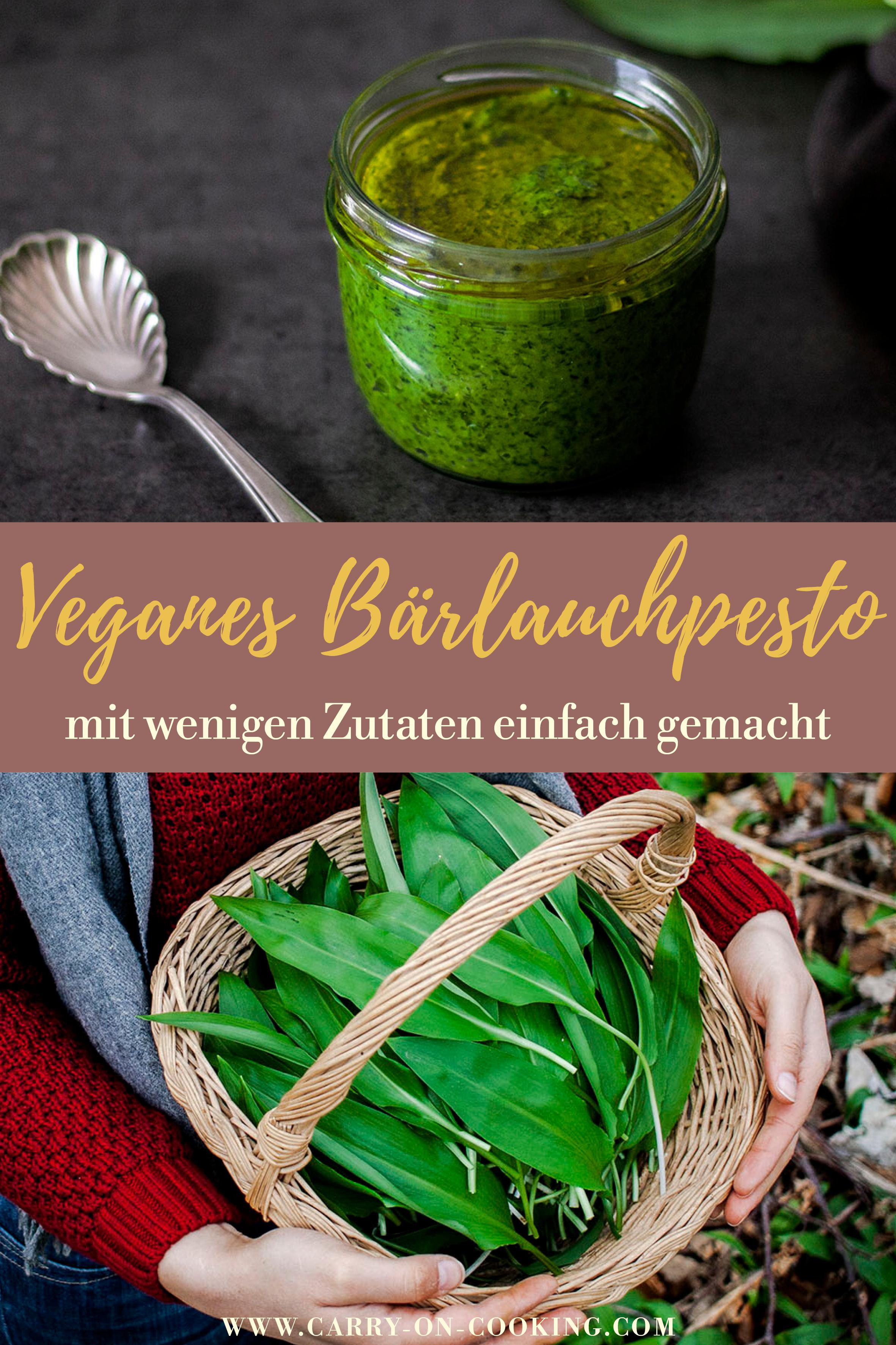 Gleich auf deine Pinterest-Pinwand pinnen: Veganes Bärlauchpesto