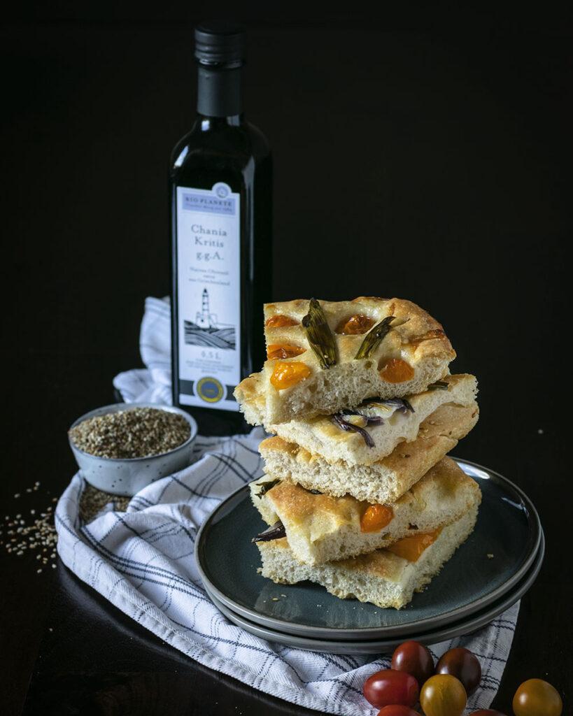 Außen knusprig, innen luftig-locker: Focaccia mit Olivenöl von BIO PLANÈTE