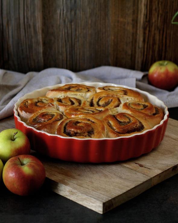 Das Traumpaar aus Apfel und Zimt vereint in einem luftigen Hefeteig
