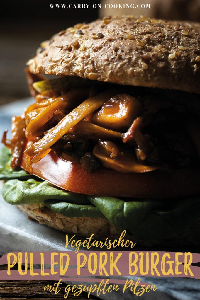 Gleich auf deine Pinterest-Pinwand pinnen: Rezept für vegetarischen Pulled Pork Burger