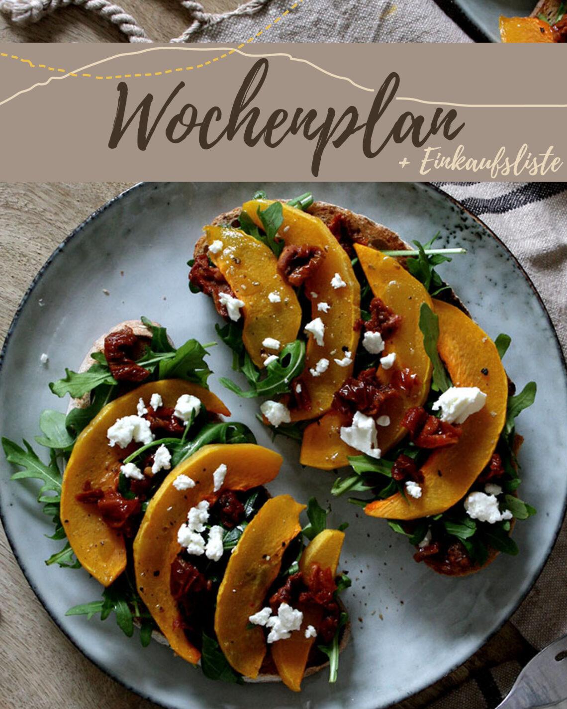Wochenplan KW 46 | Bunte Herbstküche mit Äpfeln, Kürbis & Co.