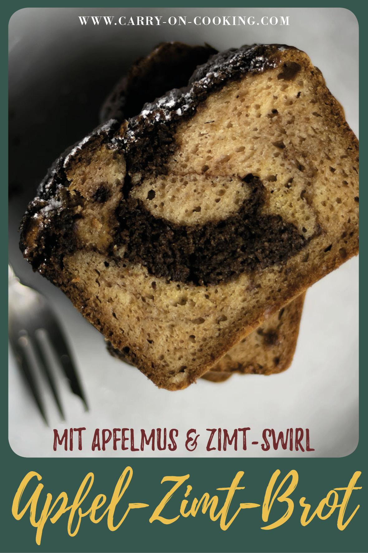 Gleich auf deine Pinterest-Pinwand pinnen: Rezept für saftiges Apfel-Zimt-Brot mit laktosefreier Milch von MinusL