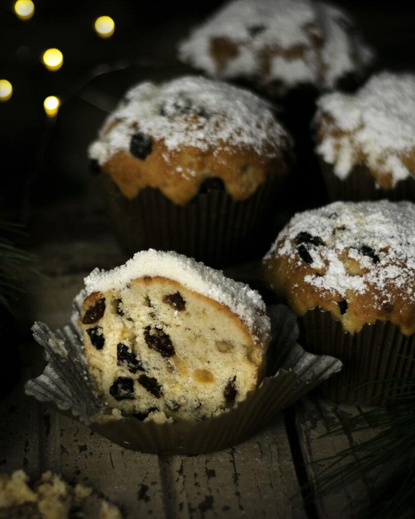 Klein, handlich & perfekt für die Weihnachtsfeier: Christstollen in Muffinform