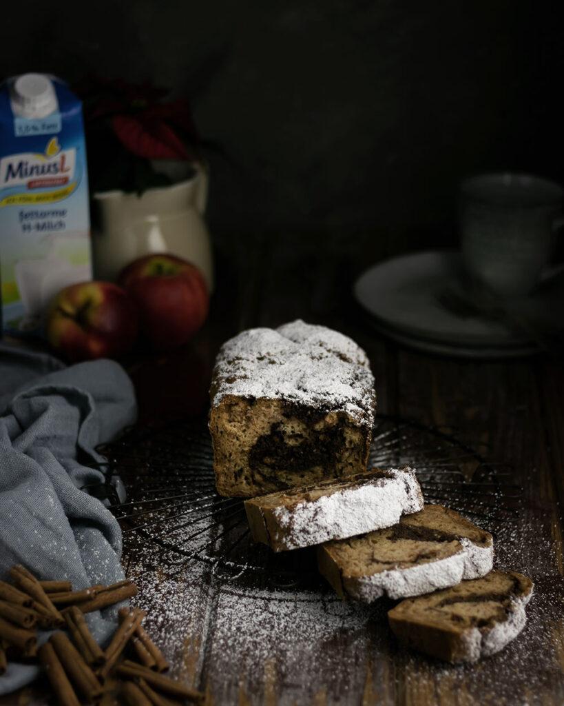 Mit diesem Apfel-Zimt-Marmorkuchen und der laktosefreien Milch von MinusL wird der Adventsbrunch richtig lecker