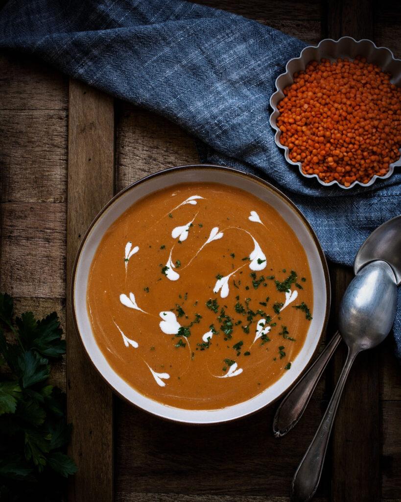 Orientalische Rote-Linsen-Suppe