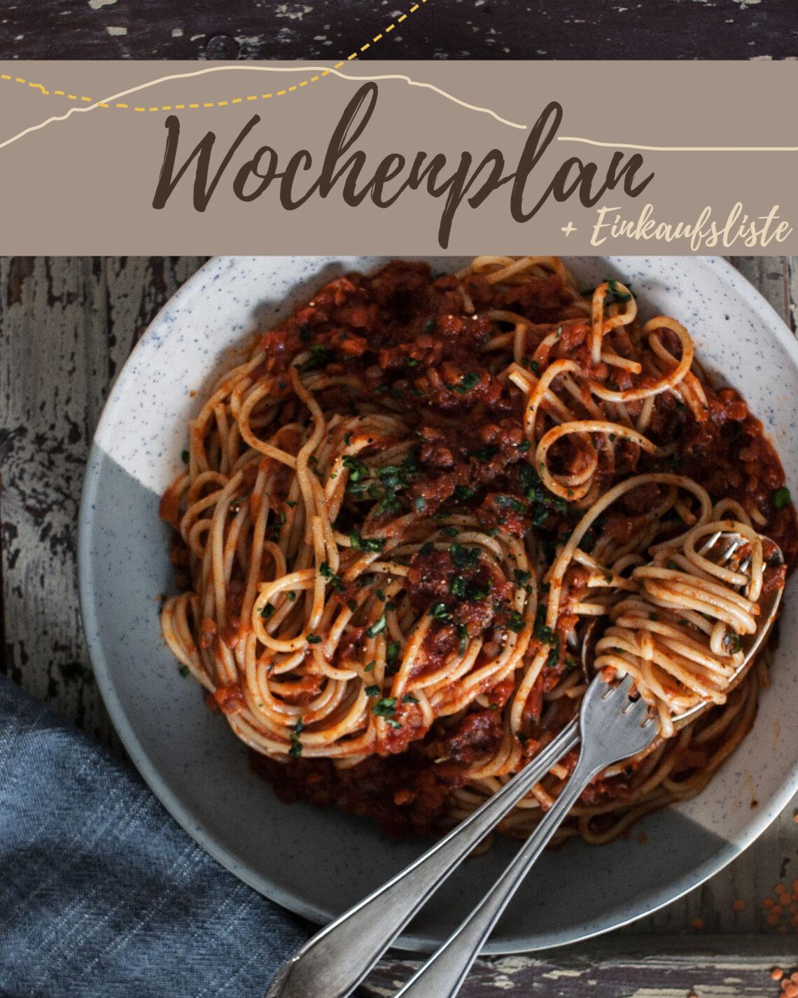 Vegetarisch-veganer Wochenplan KW3