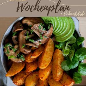 Vegetarisch-veganer Wochenplan KW 4 | Sechs leckere Rezepte für das Abendessen & eine süße Überraschung