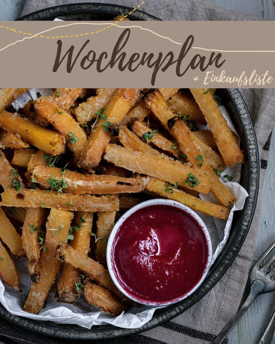 Kostenloser Wochenplan plus Einkaufsliste zum vegetarischen Wochenplan KW 5