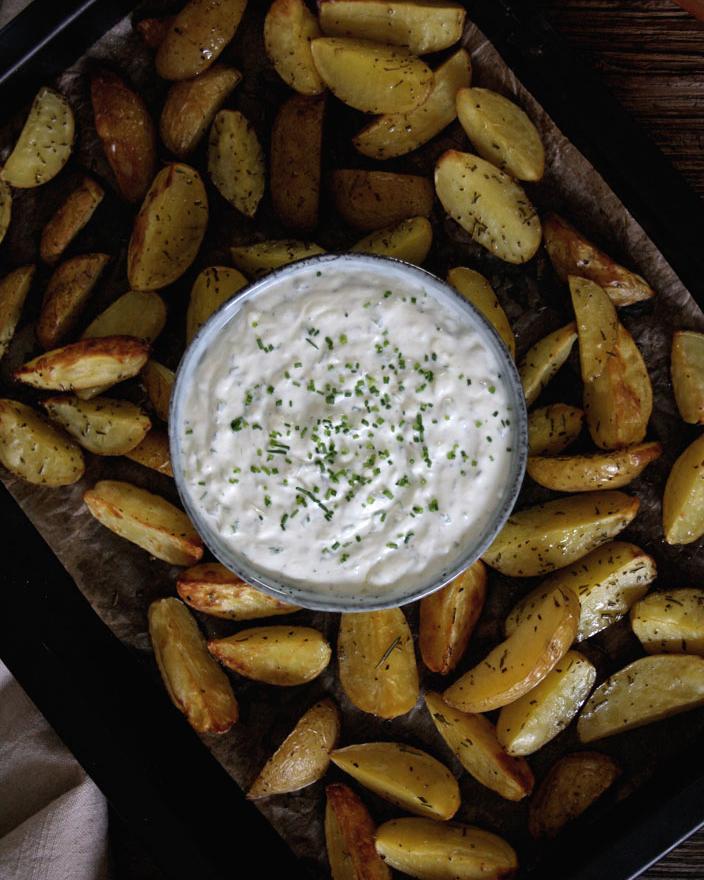 Kartoffelecken & Kräuterquark für den Wochenplan KW 7