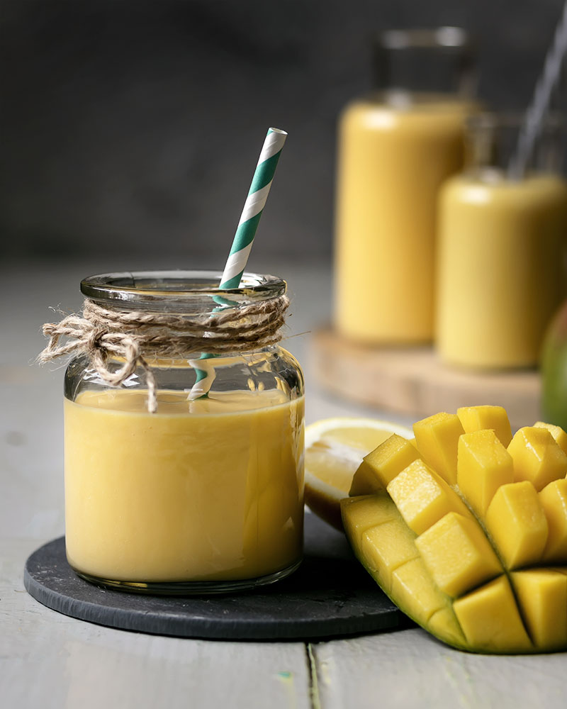 Veganer Mango-Smoothie mit Joghurt | Vegane Smoothies selber machen