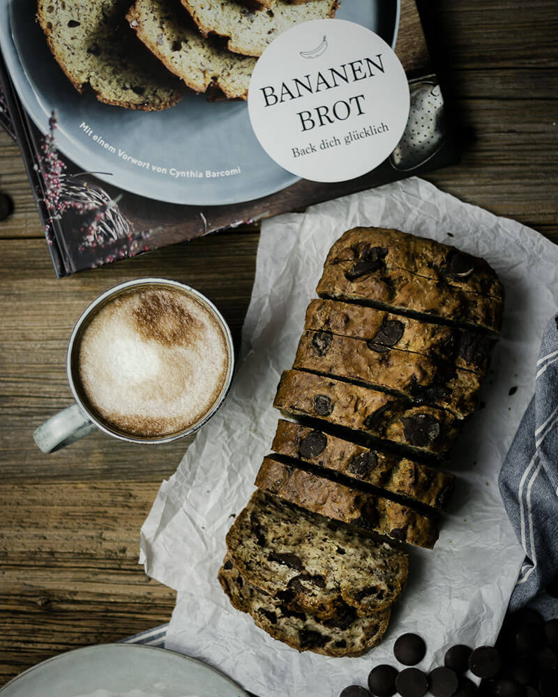 Perfekt zum Kaffee: Saftiges Bananenbrot mit Schokolade
